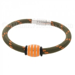 Mens Jewelry by AAGAARD Green Nylon Bracelet / Glow Link Set - 29