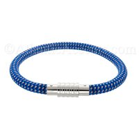 0710202 - Mens Jewelry by AAGAARD Blue Nylon Bracelet