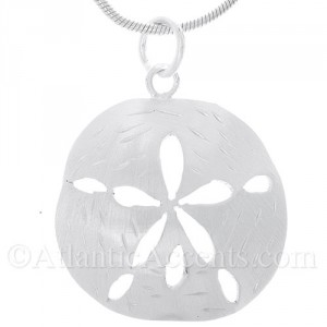 Sterling Silver Sand Dollar Pendant With Matte Finish