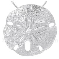 Unique handcrafted sand dollar jewelry large sterling silver sand dollar pendant aloadofball Images
