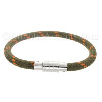 0710201 - Mens Jewelry by AAGAARD Green / Orange Nylon Bracelet