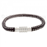 0710184 - Mens Jewelry by AAGAARD Brown Braided Leather Bracelet