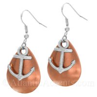 Anchor Charm on a Copper Fishing Lure Dangle Earrings