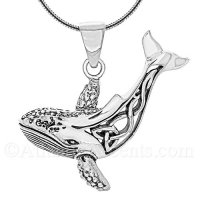 Sterling Silver Celtic Whale Pendant