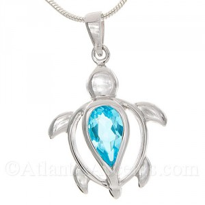 4295 sterling silver sea turtle pendant with blue stone body sterling silver sea turtle pendant with blue stone body aloadofball Image collections