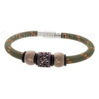 Mens Jewelry by AAGAARD Green Nylon Bracelet / Link Set - 27