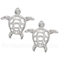 Sterling Silver Sea Turtle Post Earrings