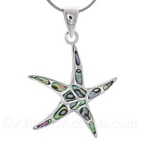Sterling Silver Starfish Pendant with Abalone Inlay