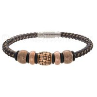 Mens Jewelry by AAGAARD Brown Braided Leather Bracelet / Bead Set - 3