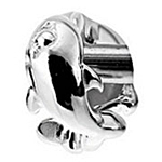 Lovelinks Jewelry Sterling Silver Dolphins Play Bead (Charm)