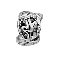 Lovelinks Jewelry Sterling Silver Kiss The Frog Bead (Charm)