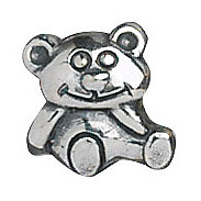 Lovelinks Sterling Silver Teddy Bear Bead (Charm)