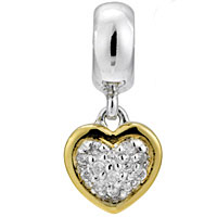 Lovelinks Jewelry Gold Tangle Hearts Dangle Bead (Charm)