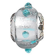 Bumpy Road / Pearl - Lovelinks Murano Glass Bumpy Road Bead