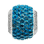 Lovelinks Crystal Ball Bead (Charm) - Crystal Metallic Blue