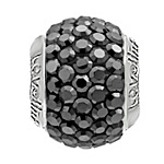 Lovelinks Crystal Ball Bead (Charm) - Jet Hematite