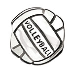 Bump Set Spike - Volleyball - Chamilia Sterling Silver Bead (Charm)
