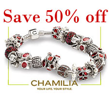 Closeout Clearance 50% off all Chamilia Jewelry Sale