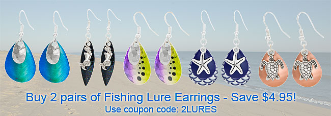 Save on 2 pairs of Fishing Lure Earrings!