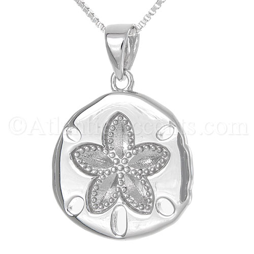 Sterling Silver Sand Dollar Necklace Pendant