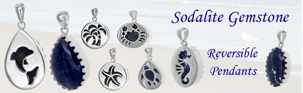 Sodalite Gemstone Sea Life Jewelry